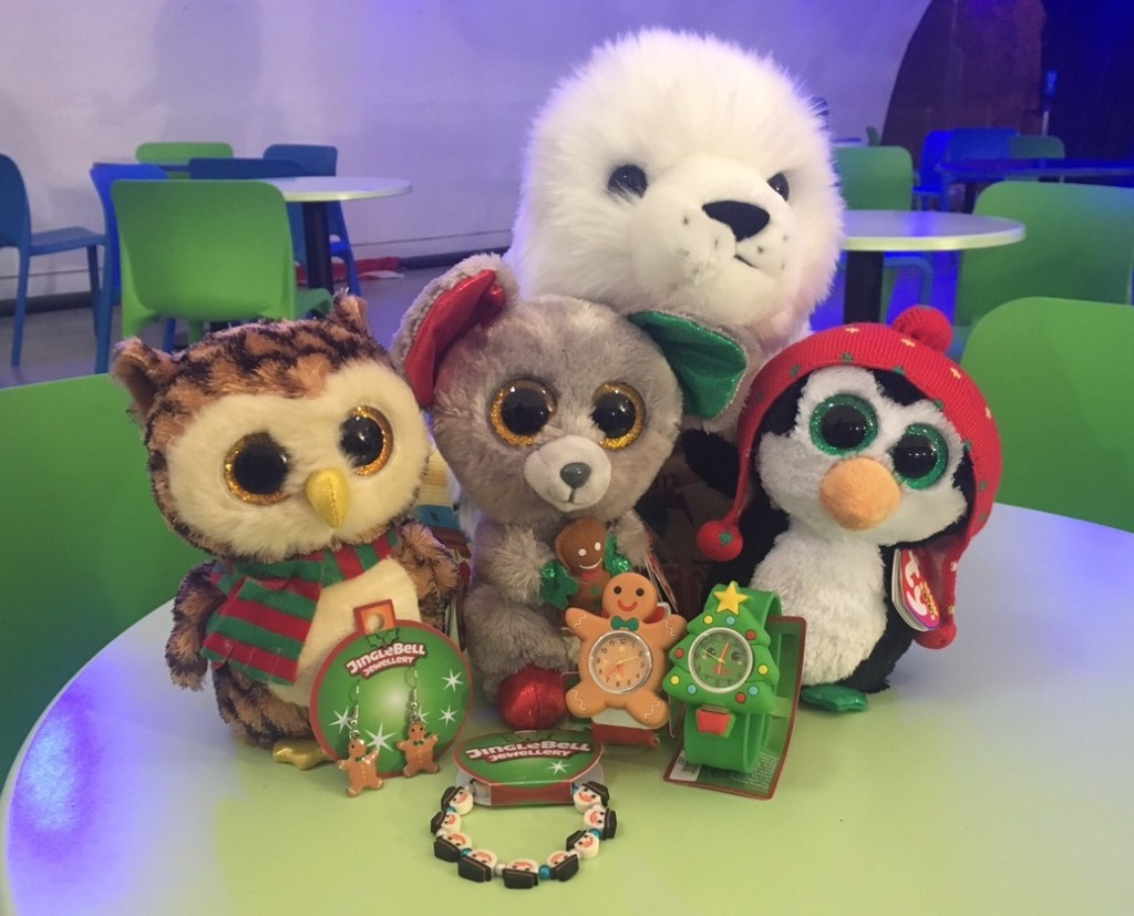 Festive cuddly toys on sale at Bristol Aquarium